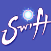 Title logo for mobile game Swift